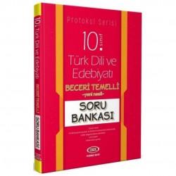 Data Yayınları - 10. Sınıf Türk Dili ve Edebiyatı Beceri Temelli Soru Bankası Protokol Serisi Data Yayınları
