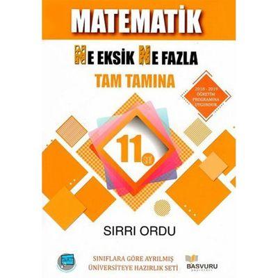11. Sınıf Matematik Ne Eksik Ne Fazla Tam Tamına Soru Bankası Başvuru Yayınları