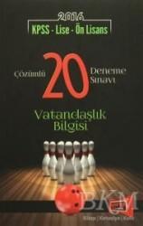 Yargı Yayınları - Lise Önlisans Kitapları - 2016 KPSS - Lise - Ön Lisans Çözümlü 20 Deneme Sınavı Vatandaşlık Bilgisi