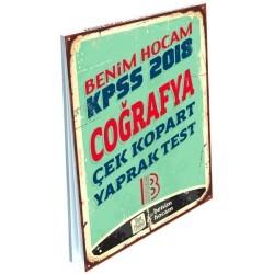 Benim Hocam Yayınları - 2018 KPSS Coğrafya Çek Kopart Yaprak Test Benim Hocam Yayınları