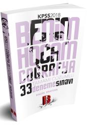 Benim Hocam Yayınları - 2018 KPSS Coğrafya Tamamı Çözümlü 33 Deneme Benim Hocam Yayınları
