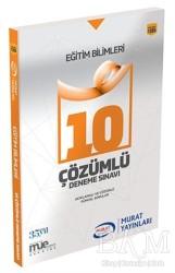 Murat Yayınları - 2018 KPSS Eğitim Bilimleri Çözümlü 10 Deneme Sınavı Murat Yayınları