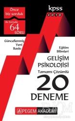Pegem A Yayıncılık - Hazırlık Kitapları - 2018 KPSS Eğitim Bilimleri Gelişim Psikolojisi Tamamı Çözümlü 20 Deneme