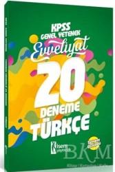 İSEM Yayıncılık - 2018 KPSS Genel Yetenek Evveliyat Türkçe Tamamı Çözümlü 20 Deneme