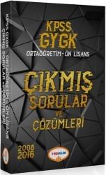 Yediiklim Yayınları - 2018 KPSS GY GK Lise Ön Lisans Tamamı Çözümlü Çıkmış Sorular Tek Kitap