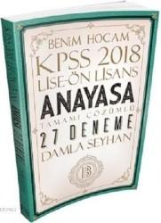Benim Hocam Yayınları - 2018 KPSS Lise Ön Lisans Anayasa Tamamı Çözümlü 27 Deneme Benim Hocam Yayınları