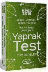 Yediiklim Yayınları - 2018 KPSS Lise Ön Lisans Çek Kopart Yaprak Test