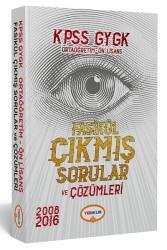 Yediiklim Yayınları - 2018 KPSS Lise - Ön Lisans Tamamı Çözümlü 2008-2016 Fasikül Çıkmış Sorular