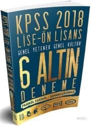 Benim Hocam Yayınları - 2018 KPSS Lise Ön Lisans Tamamı Çözümlü 6 Altın Deneme Benim Hocam Yayınları