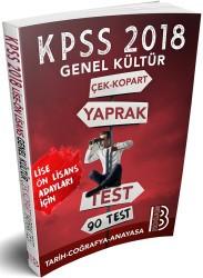 Benim Hocam Yayınları - 2018 KPSS Lise-Önlisans Genel Kültür Çek Kopar Yaprak Test Benim Hocam Yayınları
