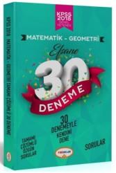 Yediiklim Yayınları - 2018 KPSS Matematik-Geometri Tamamı Çözümlü Efsane 30 Deneme