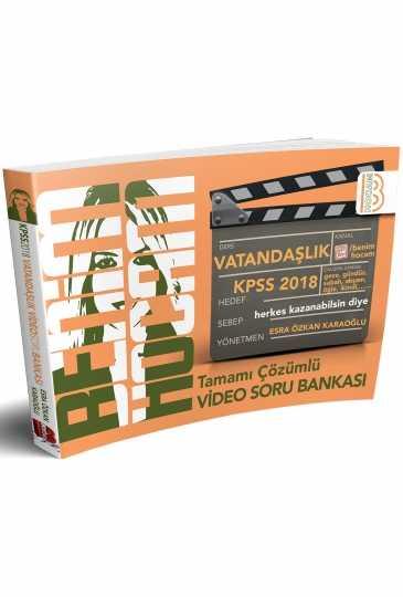 2018 KPSS Vatandaşlık Tamamı Çözümlü Video Soru Bankası Benim Hocam Yayınları