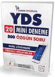 Pelikan Tıp Teknik Yayıncılık - 2018 YDS 20 Mini Deneme 800 Özgün Soru