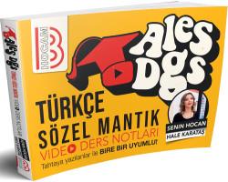 Benim Hocam Yayınları - 2019 ALES-DGS Türkçe Video Ders Notları Benim Hocam Yayınları