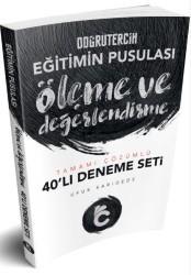 Doğru Tercih Yayınları - 2019 Eğitimin Pusulası Ölçme ve Değerlendirme Tamamı Çözümlü 40 lı Deneme Seti Doğru Tercih Yayınları