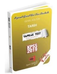 Yargı Yayınevi - 2019 KPSS Genel Kültür Tarih Çek Kopartlı Yaprak Test Yargı Yayınevi