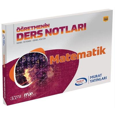 2019 KPSS Genel Yetenek Genel Kültür Öğretmenin Ders Notları Matematik Murat Yayınları