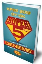 Yediiklim Yayınları - 2019 KPSS Genel Yetenek Genel Kültür Süper 5 li Tamamı Çözümlü Deneme Yediiklim Yayınları