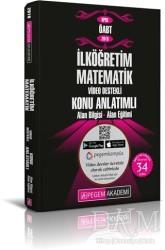 Pegem A Yayıncılık - Akademik Kitaplar - 2019 KPSS ÖABT İlköğretim Matematik Video Destekli Konu Anlatımlı Modüler Set (4 Kitap)