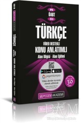 Pegem A Yayıncılık - Akademik Kitaplar - 2019 KPSS ÖABT Türkçe Video Destekli Konu Anlatımlı