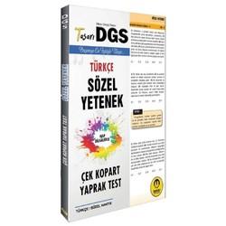 Tasarı Yayıncılık - 2020 DGS Türkçe Sözel Yetenek Yaprak Test Çek Kopart Tasarı Yayınları