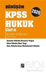 Gazi Kitabevi - Sınav Kitapları - 2020 Dönüşüm KPSS Hukuk Cilt 2