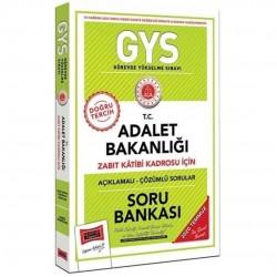Yargı Yayınları - 2020 GYS T.C. Adalet Bakanlığı Zabıt Katibi Kadrosu İçin Açıklamalı Soru Bankası Yargı Yayınları