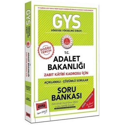 2020 GYS T.C. Adalet Bakanlığı Zabıt Katibi Kadrosu İçin Açıklamalı Soru Bankası Yargı Yayınları