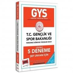 Yargı Yayınları - 2020 GYS T.C. Gençlik ve Spor Bakanlığı Şef Unvanı İçin Çözümlü 5 Deneme Yargı Yayınları