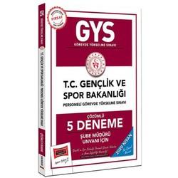 Yargı Yayınları - 2020 GYS T.C. Gençlik ve Spor Bakanlığı Şube Müdürü Unvanı İçin Çözümlü 5 Deneme Yargı Yayınları