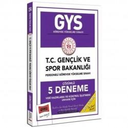 Yargı Yayınları - 2020 GYS T.C. Gençlik ve Spor Bakanlığı Veri Hazırlama ve Kontrol İşletmeni Unvanı İçin Çözümlü 5 Deneme Yargı Yayınları