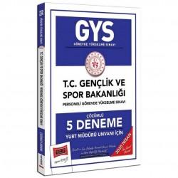 Yargı Yayınları - 2020 GYS T.C. Gençlik ve Spor Bakanlığı Yurt Müdürü Unvanı İçin Çözümlü 5 Deneme Yargı Yayınları