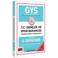Yargı Yayınları - 2020 GYS T.C. Gençlik ve Spor Bakanlığı Yurt Yönetim Memuru Unvanı İçin Çözümlü 5 Deneme Yargı Yayınları