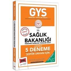 Yargı Yayınları - 2020 GYS T.C. Sağlık Bakanlığı Şoför Unvanı İçin Çözümlü 5 Deneme Yargı Yayınları