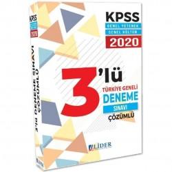 Lider Yayınları - 2020 KPSS Genel Yetenek Genel Kültür 3 Deneme Çözümlü Lider Yayınları