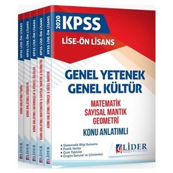 Lider Yayınları - 2020 KPSS Lise Ön Lisans GYGK Konu Anlatımlı Modüler Set Lider Yayınları