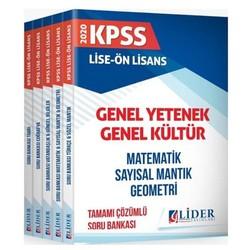 Lider Yayınları - 2020 KPSS Lise Ön Lisans GYGK Soru Bankası Çözümlü Modüler Set Lider Yayınları