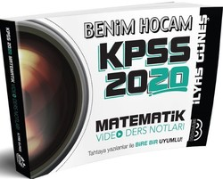 Benim Hocam Yayınları - 2020 KPSS Matematik Video Ders Notları Benim Hocam Yayınları