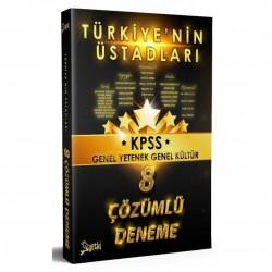 Yetki Yayıncılık - 2020 KPSS Türkiye nin Üstadları Genel Yetenek Genel Kültür 8 Deneme Çözümlü Yetki Yayıncılık
