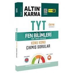Altın Karma Yayınları - 2020 TYT Fen Bilimleri Fizik - Kimya - Biyoloji Konu Konu Çıkmış Sorular
