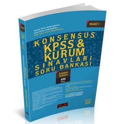 2021 KONSENSUS KPSS Anayasa Hukuku Soru Bankası Savaş Yayınları