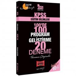 Yargı Yayınları - 2021 KPSS Eğitim Bilimleri 100 de 100 Program Geliştirme Tamamı Çözümlü 20 Deneme Yargı Yayınları