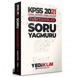 Yediiklim Yayınları - 2021 Kpss Genel Yetenek Genek Kültür Tüm Dersler Soru Yağmuru