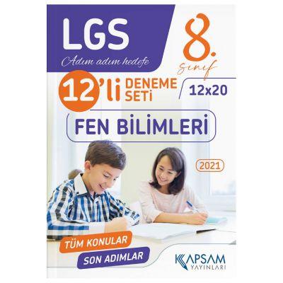 2021 LGS Fen Bilimleri 12'li Deneme Kapsam Yayınları