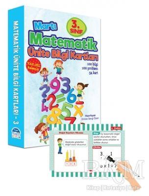 3. Sınıf Matematik Ünite Bilgi Kartları - Yaz Sil Kalemli