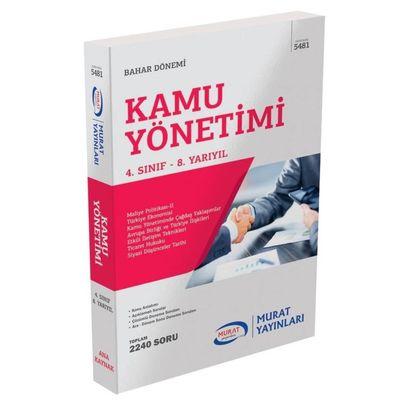 4. Sınıf Bahar Kamu Yönetimi Konu Anlatımlı Soru Bankası Murat Yayınları