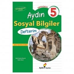 Aydın Yayınları - 5. Sınıf Sosyal Bilgiler Defterim Aydın Yayınları