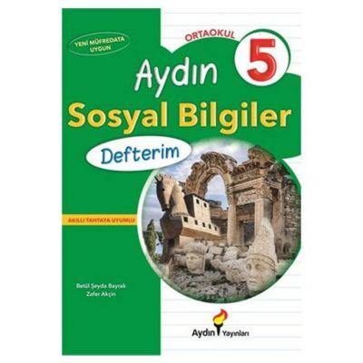 5. Sınıf Sosyal Bilgiler Defterim Aydın Yayınları