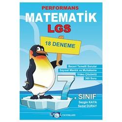 İdol Yayınları - 7. Sınıf Matematik Performans 18 Deneme İdol Yayınları