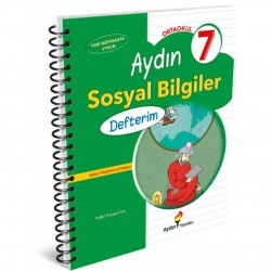 Aydın Yayınları - 7. Sınıf Sosyal Bilgiler Defterim Aydın Yayınları